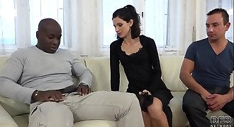 Cuckold Training Wife fucks black man in front of spouse and pussy ate