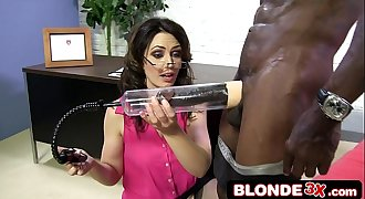 Business Woman Sarah Shevon Sucking Big Black Cock