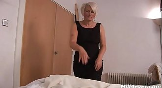 British Milf Jerks Young Cock
