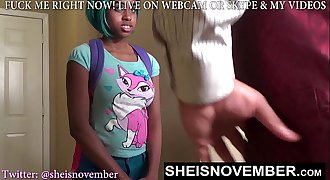 Teenage STEP DAUGHTER GIVES STEP DAD DEEP BLOWJOB CUM SWALLOW AFTER SKIPPING SCHOOL
