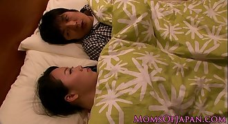 Japanese housewife titfucking her man