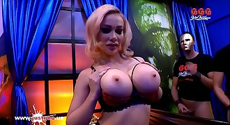 Super busty Pornstar Chessie Kay attempts her first German gangbang