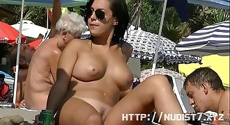 This nudist honeys naked at the beach compilatio...