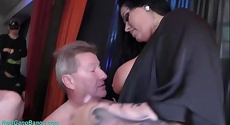 extreme gangbang with busty Ashley Jizz Starlet