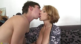 Hot polish mature fucks a young stud