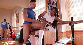 DDF Network-Nekane and Jasmine Webb Fitness fucked in Cheerleader outfits