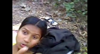 Indian Youthfull teen bunks COLLEGE gets Banged in JUNGLE  Outdoor Forest