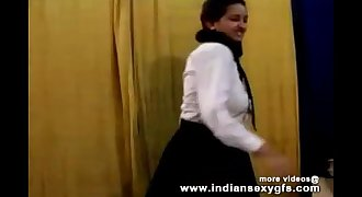 Horny Hot Indian Pornographic star Babe as School lady Squeezing Big Boobs and masturbating Part1 - indiansex